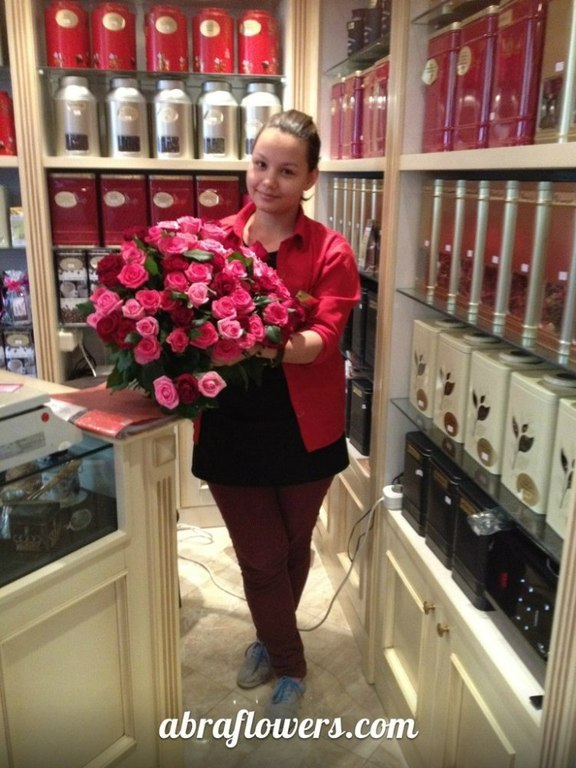 Фото доставки, фотоотчёт, Доставка цветов Алматы